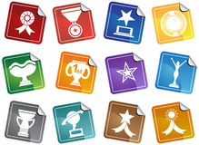 Trophy Buttons Stock Image