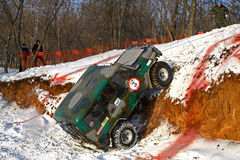 Trophy Challenge. UFA, RUSSIA - DECEMBER 18: Off-road vehicle UAZ (No. 3) of team ROTAS during annual trophy raid Natural selection on December 18, 2010 in Ufa Stock Photos