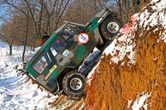 Trophy Challenge. UFA, RUSSIA - DECEMBER 18: Off-road vehicle UAZ (No. 3) of team ROTAS competes at the annual trophy raid Natural selection on December 18, 2010 Royalty Free Stock Image