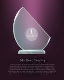trophy Concessão realística Fundo violeta escuro ilustração royalty free