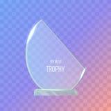 trophy Concessão realística Fundo violeta escuro ilustração stock