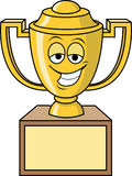 Trophy Cup. Cartoon illustration of a trophy cup Stock Image