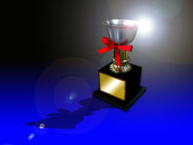 Trophy cup. A trophy cup for you to fill in the prize info Royalty Free Stock Photo