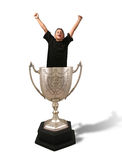 Trophy Cup. A photo of a isolated trophy cup royalty free stock photos