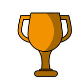 Trophy cup award icon. Illustration design Stock Photos