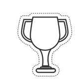 Trophy cup award icon. Illustration design Stock Images