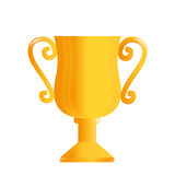 Trophy cup award icon. Vector illustration design Stock Image
