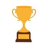 Trophy cup award icon. Vector illustration design Stock Photos