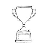 Trophy cup award icon. Vector illustration design Stock Photography