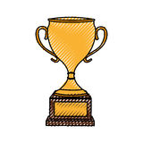 Trophy cup award icon. Vector illustration design Royalty Free Stock Images