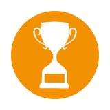 Trophy cup award icon. Vector illustration design Royalty Free Stock Photography