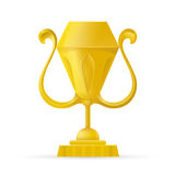Trophy cup, award, vector icon in flat style. Simple winner symbol. Royalty Free Stock Photography