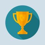 Trophy, Cup composition. For sport event advertisement, brochure, diploma, or web design vector illustration
