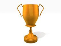 Trophy cup. 3D Rendered gold trophy cup  on white background Royalty Free Stock Images