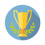 Trophy cup flat icon Royalty Free Stock Photography