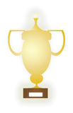 Trophy Cup Flat Icon with shadow Royalty Free Stock Photos
