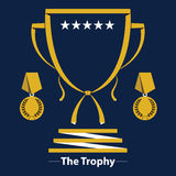 Trophy Cup Flat Icon Stock Photography