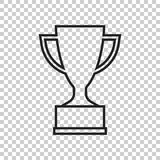 Trophy cup flat vector icon in line style. Simple winner symbol. Royalty Free Stock Photography