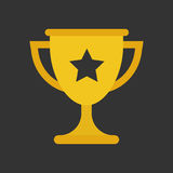Trophy cup flat vector icon. Simple winner symbol. Gold illustra Stock Photography