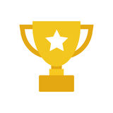 Trophy cup flat vector icon. Simple winner symbol. Gold illustra Royalty Free Stock Photography
