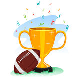 Trophy Cup with Football Stock Photos