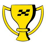 Trophy cup icon, icon cartoon. Trophy cup  icon in icon in cartoon style isolated vector illustration Royalty Free Stock Photography