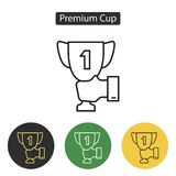 Trophy Cup icon. Royalty Free Stock Photo