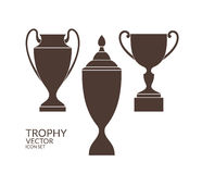 Trophy. Cup. Icon set. Vector illustration EPS Royalty Free Stock Images