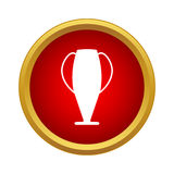 Trophy cup icon in simple style Royalty Free Stock Images