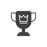 Trophy cup icon vector, filled flat sign, solid pictogram isolated on white. Symbol, logo illustration. Pixel perfect Royalty Free Stock Photo