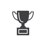 Trophy cup icon vector. Filled flat sign, solid pictogram  on white. Symbol, logo illustration. Pixel perfect vector graphics Stock Images