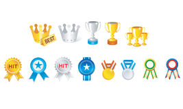Trophy cup icons Royalty Free Stock Photo