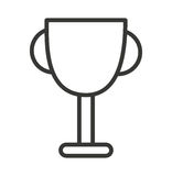 Trophy cup isolated icon design Royalty Free Stock Photo