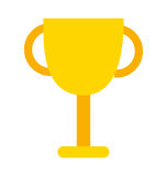 Trophy cup isolated icon design Royalty Free Stock Image