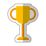 Trophy cup isolated icon Royalty Free Stock Images