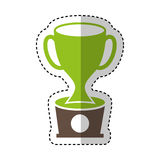 Trophy cup isolated icon Stock Photography