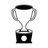Trophy cup isolated icon. Vector illustration design Royalty Free Stock Images