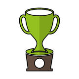 Trophy cup isolated icon. Vector illustration design Stock Photography