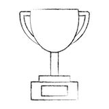 Trophy cup isolated icon Royalty Free Stock Image
