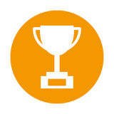Trophy cup isolated icon Stock Images