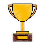 Trophy cup isolated icon Stock Photos