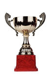 Trophy cup isolated on the white. Background royalty free stock image