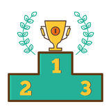 Trophy Cup, Prize Cup - the first place. Trophy Cup, Prize Cup - the first place Stock Image