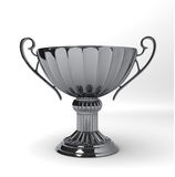 TROPHY CUP Silver. Isolated on a neutral white background Stock Images