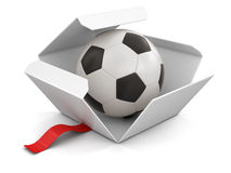 Trophy Cup and Soccer football Royalty Free Stock Photography