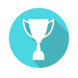 Trophy cup vector icon, flat design. Concept-winning, victory, champion, quality Royalty Free Stock Photography