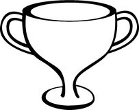 trophy cup vector illustration Stock Images