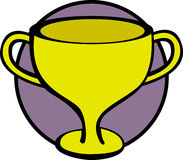 trophy cup vector illustration Royalty Free Stock Photography