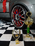 Trophy Cup Wheel Disc Sign Car Auto Royalty Free Stock Photo