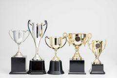 Trophy Cup on white background. Arrangement of Trophy Cup on white background royalty free stock photo